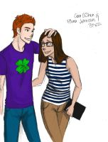 Cian and Fiona - colored by ElleTheOwl