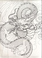 Dragon from Japaan by empan