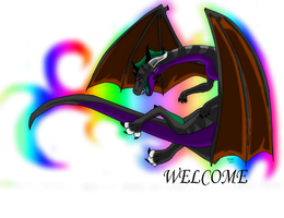 My new Welcome Dragon by Dragonmaker990
