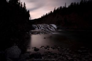 Bow River Falls by drewhoshkiw