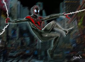 ultimate comics all new Spider man: miles morales! by T-Spencil