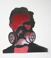 Abe Lincoln GasMask Stencil by bookabooka