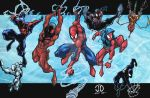 SpiderMAN MONTAGE COLORS by JoeyVazquez