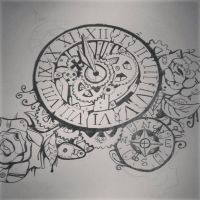 Steampunk clock (unfinished ver.) by wexen2890