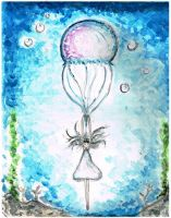 Parachute Jellyfish by Vel-drawings