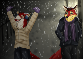 First Snow by lone-wolf-666