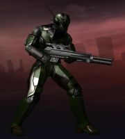 City of Heroes: American Army Powered Armor by CaptFox
