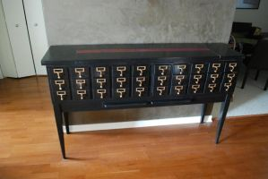 Card Catalog Credenza by HGriffin