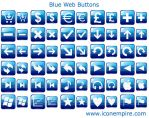 Blue Web Buttons by Ikont