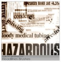 Headlines Brushes by Scully7491