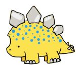 Yellow Stegosaurus by SpyroGirl22