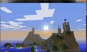 Minecraft Sunrise by Champineography