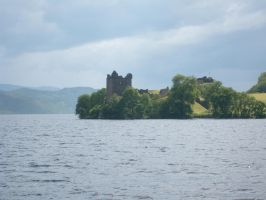 Castle on the Loch by WorldSerpent