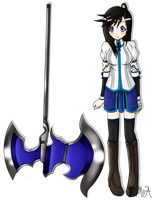 Elsword OC- Miyaka, Heavy Weapons Expert by PMSA