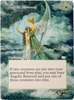 Angelic Renewal - MtG Alter by closetvictorian
