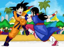 Goku Vs ChiChi by HTivey