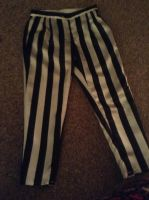 Beetlejuice Cosplay Pants -IN PROGRESS- by GothicBrony