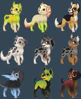 Cute Dog Adoptable | 0/9  | FREE by xx-BREAKTHEBEAT-xx