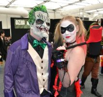 Joker and Harley Cosplay at 2014 Sydney OzComicCon by rbompro1