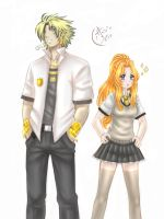 GHS: Zahir and Angie with uniform by MariiDRAW