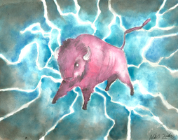 Electric Bison by AndrewLaFish-Arts