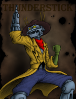 Thunderstick the Outlaw Robot - Bravestarr by JenL