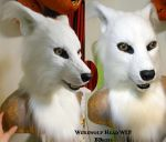 White Werewolf Head SOLD by Magpieb0nes