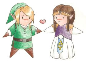 Link and Zelda Fluff by Kimmy37