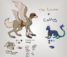 LAF: The Aviator + Cathy Reference by Closet-Furry