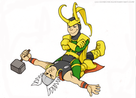 Angry Thor is angry by GoreChick