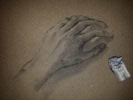 Hand (Charcoal) by LingXiaoXian