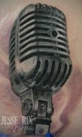 Old Microphone tattoo by jesserix