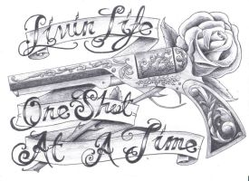 traditional pistol tat design by spadge19