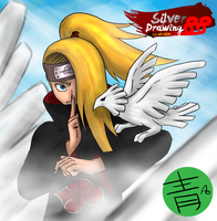 Deidara and Bakuton Bird by SilverDrawing88