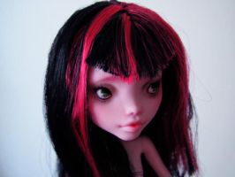 Monster high doll Draculaura custom repaint by hellohappycrafts