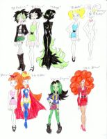 More PPG Bruce Timm Styles by PurfectPrincessGirl