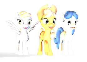 Ponies in 3D Available by Solomen