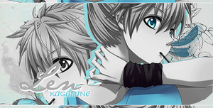Len Kagamine ~Black and Blue(?) [firma] by xBlue-Editions