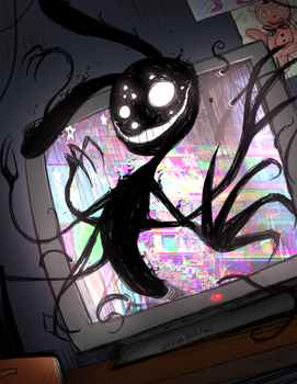 FNAF - Coming Through the Screens (Goretober) by Atlas-White