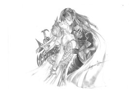 Yuna and Caius Ballad marriage by Angela-Chiappini
