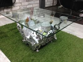 Tea table from my old engine by artik100
