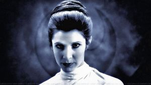 Carrie Fisher Princess Leia XLVI Paint by Dave-Daring