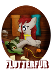 Tee Design Commision: FlutterFur by Ilona-the-Sinister