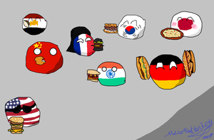Countryballs Fast Food by Disney08