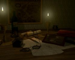 Antique Desk by andr3a-00