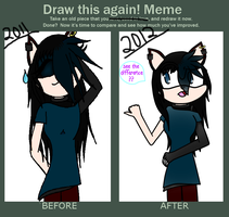 Before and AFTER! :3 by lune101
