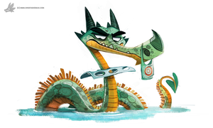 Daily Paint 779. Messie Nessie by Cryptid-Creations
