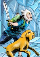 Adventure Time Print: Finn And Jake by danecypel