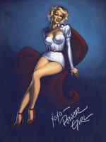 Pinup Power Girl by JessiBeans