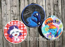 MLP Embroidery Hoops by MelloReflections